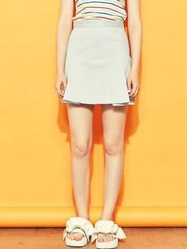 Blank Pleats Skirt-bl