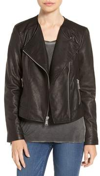 Andrew Marc Riley Textured Genuine Leather Moto Jacket