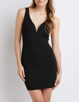 Charlotte Russe Notched Bodycon Dress