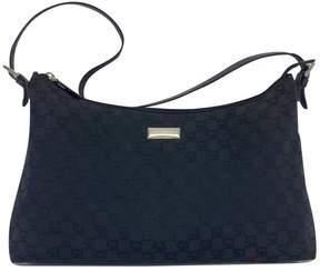 St. John Black Monogram Nylon Shoulder Bag