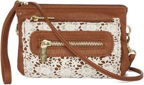 ARIZONA Arizona Triple Zip Crochet Crossbody Bag