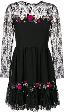 Blugirl lace-panelled crepe dress