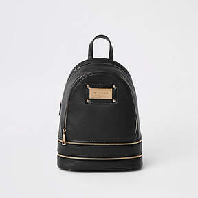 River Island Black mini backpack