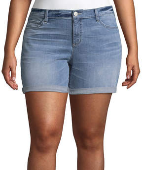 Boutique + + Denim Short 6 Roll Cuff - Plus