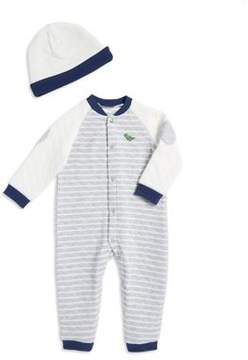 Little Me Baby Boy's Quilted Coverall and Hat Set