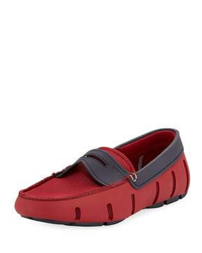 Swims Rubber Penny Loafer, Red
