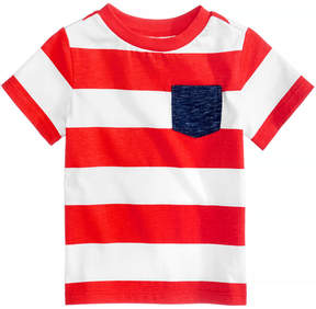 First Impressions Rugby-Striped Cotton T-Shirt, Baby Boys (0-24 months), Created for Macy's