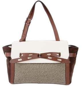 Bally Leather & Suede-Accented Canvas Tote