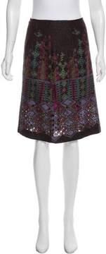 Christian Lacroix Bazar de Knit Jacquard Knee-Length Skirt
