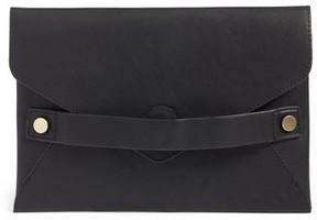 Sole Society Karen Faux Leather Envelope Clutch - Black