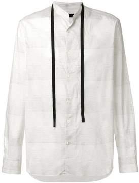 Ann Demeulemeester Blanche striped grandad shirt