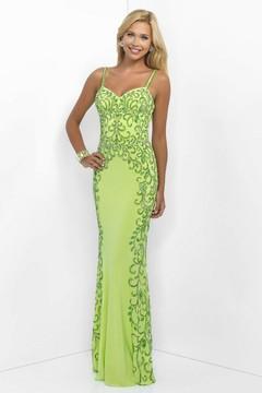 Blush Lingerie Beaded Sweetheart Jersey Sheath Dress 11060