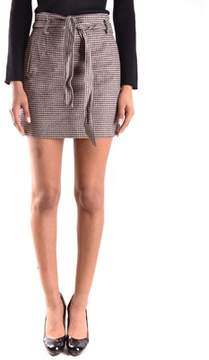 Peuterey Women's Multicolor Wool Skirt.