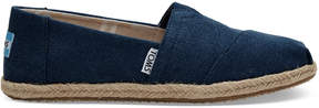 Toms Navy Washed Canvas Women's Classics