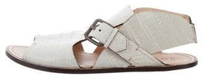 Reed Krakoff Alligator Skin Sandals