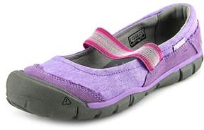 Keen Rivington Mj Youth Round Toe Canvas Purple Mary Janes.