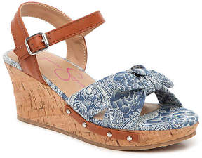 Jessica Simpson Girls Fabiana Toddler & Youth Wedge Sandal