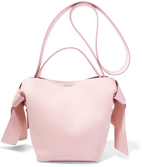 Acne Studios Musubi Mini Knotted Leather Shoulder Bag - Pastel pink