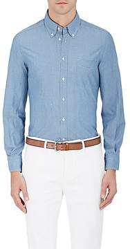 Boglioli Men's Cotton Chambray Button-Down Shirt