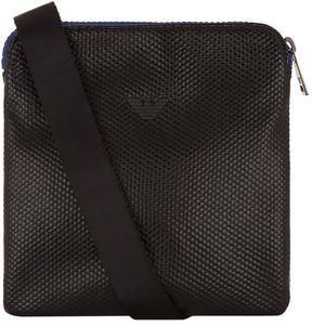 Armani Jeans Textured Eagle Messenger Bag