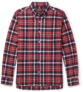 Beams Button-Down Collar Cotton-Flannel Shirt