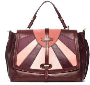 The Bridge Bordeaux And Pink Dual Function Bag