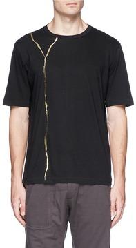 Haider Ackermann Metallic crack print T-shirt
