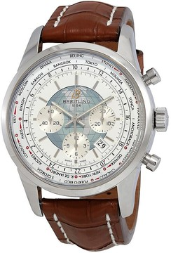 Breitling Transocean Chronograph Unitime World Time Automatic Chronometer Men's Watch