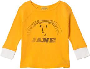 Bobo Choses Banana Yellow Little Jane Three Quarter Sleeve T-Shirt