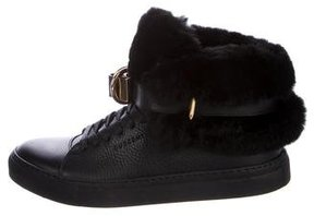 Buscemi 100MM Rabbit Fur Sneakers