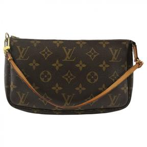 Louis Vuitton Pochette Accessoire cloth clutch bag - BROWN - STYLE