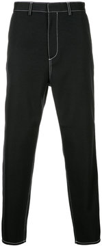 H Beauty&Youth stitch detail trousers