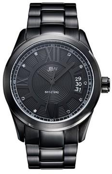 JBW Bond Black Dial Black IP Stainless Steel Men's Watch
