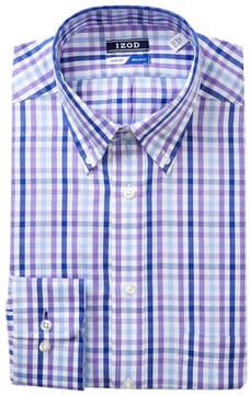 Izod Plaid Regular Fit Dress Shirt