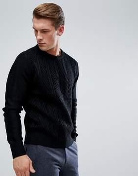 Brave Soul Chevron Stripe Crew Knit Sweater