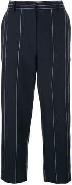Cédric Charlier high-waist striped trousers
