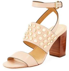 MICHAEL Michael Kors Womens Valencia Leather Open Toe Casual Ankle Strap Sand....