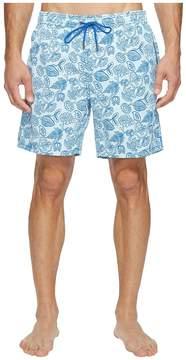 Mr.Swim Mr. Swim Leafy Floral Printed Dale Swim Trunk Men's Swimwear