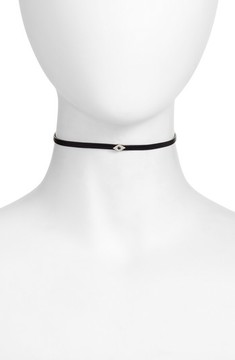 Ef Collection Women's Leather Evil Eye Choker
