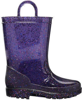 Joe Fresh Toddler Girls' Glitter Rain Boots, Blue (Size 7)
