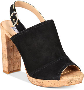 INC International Concepts Women's Tangia Platform Block-Heel Sandals, Created for Macy's Women's Shoes