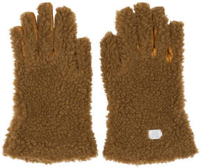 Stella McCartney Tan Faux-Fur Gloves