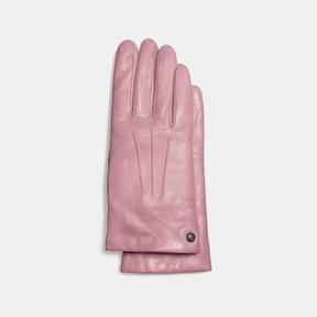 COACH SHORT LEATHER GLOVE - DUSTY ROSE