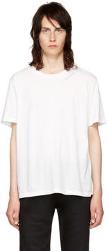 Saint Laurent White Je Taime T-Shirt