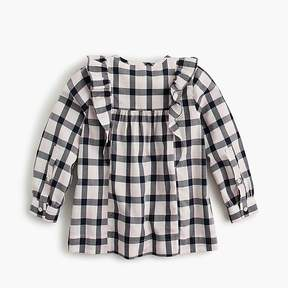 J.Crew Girls' top in check