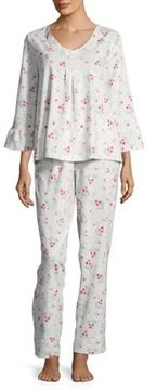 Carole Hochman Floral Cotton Pajama Set