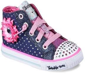 Skechers Twinkle Toes Shuffles Bloom Boom Toddler Girls' Light Up Shoes