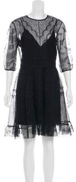 Christian Dior Silk Mesh Dress