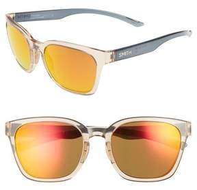 Smith Women's Founder 55Mm Chromapop Polarized Sunglasses - Desert Crystal Smoke