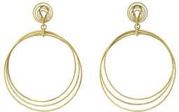 Buccellati 18k Gold Hawaii Circle Drop Earrings